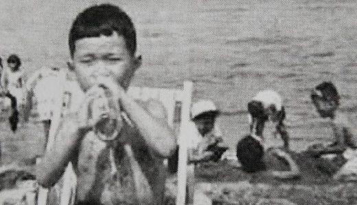 餅ケ浜海水浴場にて