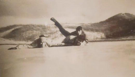 志高湖でスケートを楽しむ若者